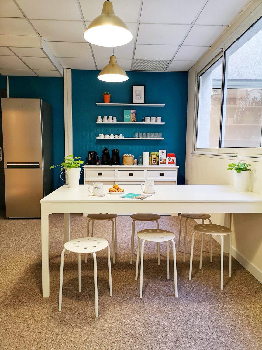 Coin cuisine - Ascot Domiciliation & Coworking - Centre d'affaires de Beausoleil